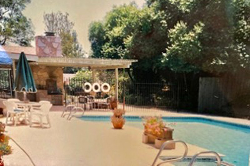 The original backyard with the unused pool. Photo: Helix Water District