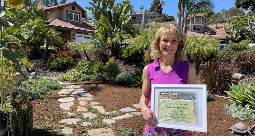 El Cajon homeowner-Otay Water District-2021 Landscape Makeover Contest