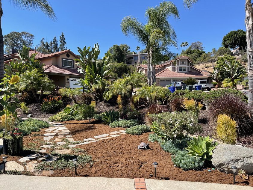 This beautiful landscape makeover winner from the 2021 Otay Water District content can help guide your own efforts. Photo: Otay Water District checklist for success
