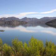 Climate Change-drought-San Vicente Reservoir in San Diego County