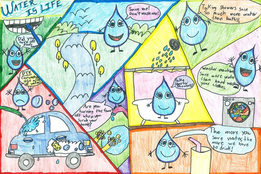 First place: Kristen Beltran, fifth grade, Thurgood Marshall Elementary School Young atists win Otay