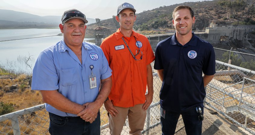 Members of the Rasmusssen family (L to R) Ed, Eric, and Howard Rasmussen. Photo: San Diego County Water Authority