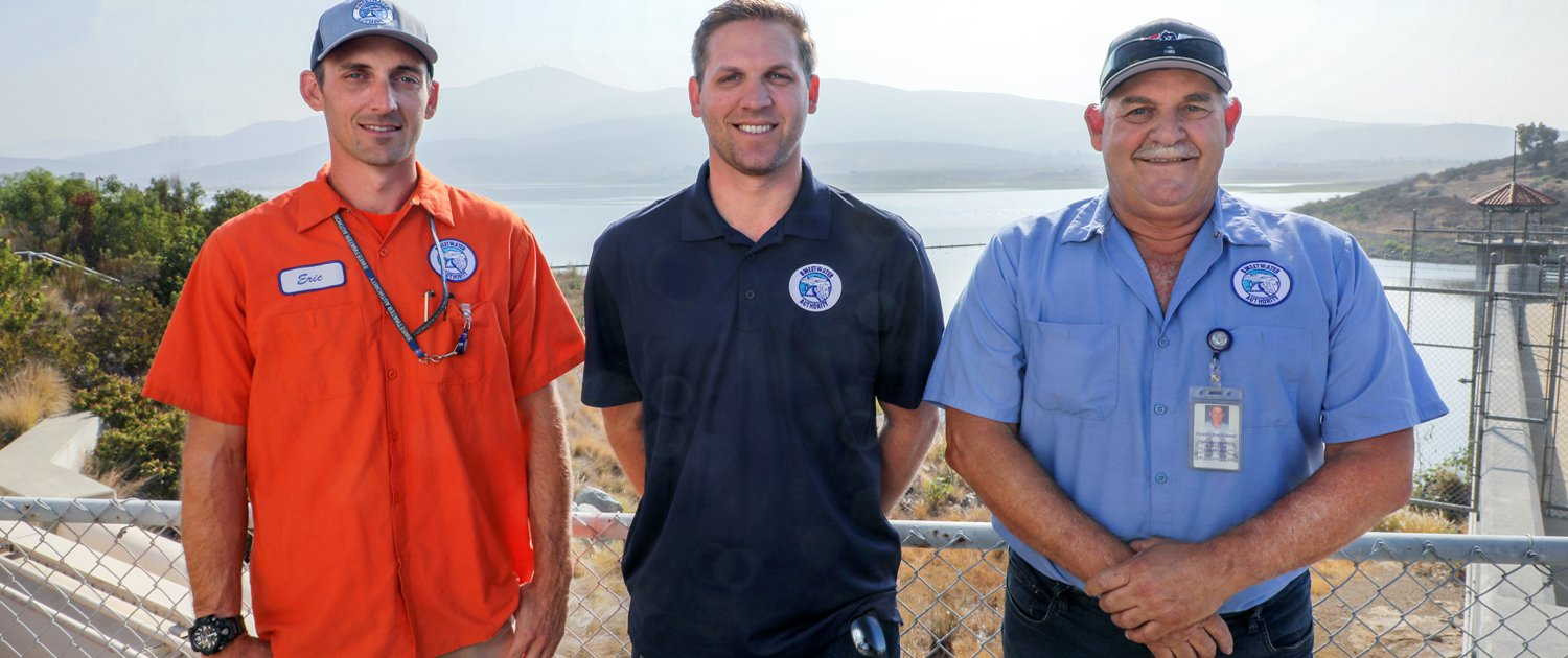 SLIDER Members of the Rasmusssen family (L to R) Ed, Eric, and Craig Rasmussen. Photo: San Diego County Water Authority