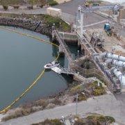 Carlsbad Desalination Plant-oil spill-Lagoon-boom protection