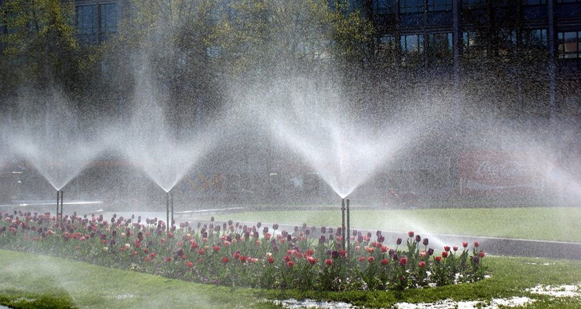 Letting sprinklers run to excess is an example of a poorly performing irrigation system due to bad design, inadequate maintenance, and improper management and it's unacceptable. Photo: Wolfgang Bantz irrigation IQ